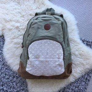 Roxy - Canvas Backpack w/ Crochet Detail
